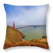 Golden Gate Bridge Vista Point Throw Pillow