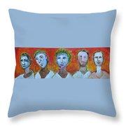 5 Guys Throw Pillow
