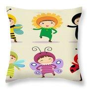 Happy Children  Throw Pillow