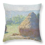 Haystacks, End Of Summer Throw Pillow