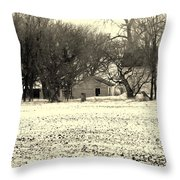 Heartland Of A Superpower Throw Pillow