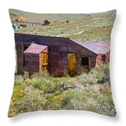 Homestead, Bodie Ghost Town Throw Pillow