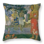 Ia Orana Maria Hail Mary Throw Pillow