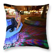 In The Dark N In The Light Throw Pillow