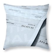 Income Inequality Paychecks Throw Pillow