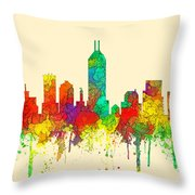 Indiana Indianapolis Skyline Throw Pillow