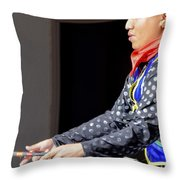 Jaune Throw Pillow