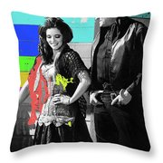 June Carter Cash Johnny Cash In Costume Old Tucson Az 1971-2008 Throw Pillow