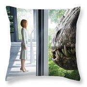 Jurassic World 2015  Throw Pillow