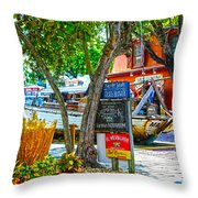Key West Florida The Conch Republic Throw Pillow