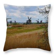 Kinderdijk Windmills Throw Pillow