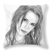 Miss Beckinsale  Throw Pillow