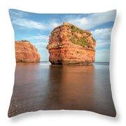 Ladram Bay - England Throw Pillow