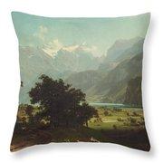 Lake Lucerne Throw Pillow