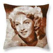 Lana Turner Vintage Hollywood Actress Throw Pillow
