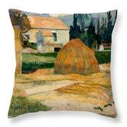 Landscape Near Arles Throw Pillow