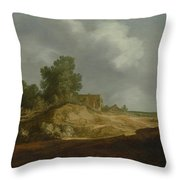 Landscape With A Cottage Throw Pillow