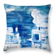 Les Deux Balcons Throw Pillow by Contemporary Luxury Fine Art