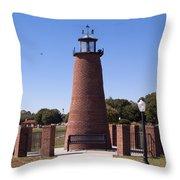 Lighthouse On Lake Toho At Kissimmee In Florida Throw Pillow