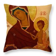 Madonna And Child Religious Art Throw Pillow