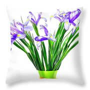 Majestic Iris Throw Pillow