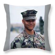 Marine. Throw Pillow