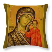 Mary And Child Religious Art Throw Pillow