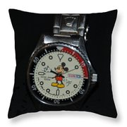 Mickey Mouse Watch Throw Pillow