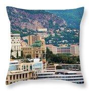 Monte Carlo Cityscape Throw Pillow