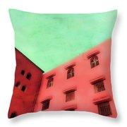 Moroccan Building Throw Pillow