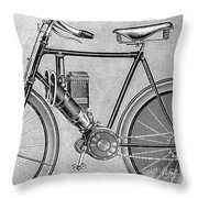 Motorcycle, 1895 Throw Pillow