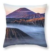 Mount Bromo - Java Throw Pillow