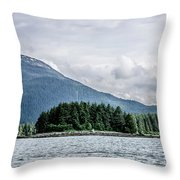 Mountain Range Scenes In June Around Juneau Alaska Throw Pillow