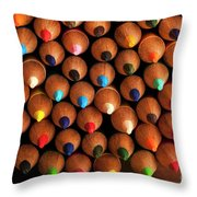 Multicolored Pencils  Throw Pillow