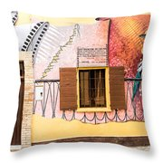 Mural Painting In Saludecio Throw Pillow