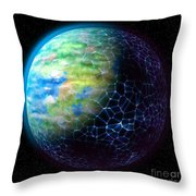 Network Planet Throw Pillow