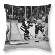 Nhl Hockey At The Pacific Coliseum Throw Pillow
