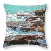 5- Ocean Reef Shoreline Throw Pillow