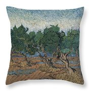 Olive Grove Throw Pillow