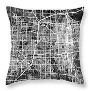 Omaha Nebraska City Map Throw Pillow