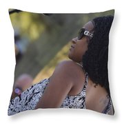 Ouside The Line Throw Pillow