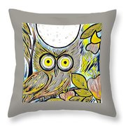 Owl Midnight Throw Pillow