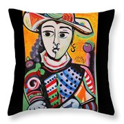 Picasso By Nora Throw Pillow
