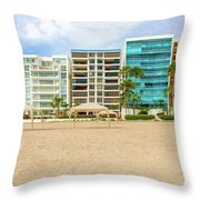 Playa De Chipipe In Salinas, Ecuador Throw Pillow
