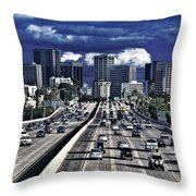 5 Pm Downtown Next Exit Throw Pillow