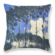 Poplars On The Epte Throw Pillow
