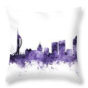 Portsmouth England Skyline Throw Pillow