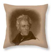President Andrew Jackson Throw Pillow