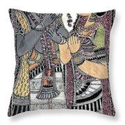 Radha Krishna Color Throw Pillow