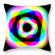 Rainbow Waves Throw Pillow